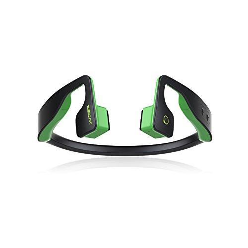KSCAT NICE5T Open-Ear Bone Conduction Headphone Bluetooth 4.1 Sports Waterproof Stereo Wireless Earbuds With Mic for Smartphones-Black (Green)
