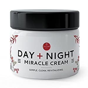 BEST BEAUTY MOISTURIZER FACE CREAM for Women, 100% Natural Antioxidants & Essential Oils, Ultra Hydrating & Calming Skin Daily Formula with Organic Aloe Vera Juice, Coconut, Frankincense, & Lavender!