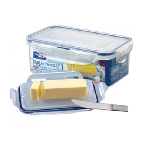 (Lock&Lock 25-Fluid Ounce Rectangular Food Container with Tray, 3.1-Cup, Butter Case by LockandLock)