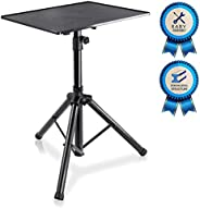 Pyle Laptop Projector Stand, Heavy Duty Tripod Height Adjustable For DJ Presentations Notebook Computer