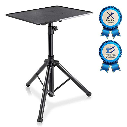 Pro DJ Laptop, Projector Stand - Adjustable Laptop Stand, Computer DJ Equipment Studio Stand Mount Holder, Height Adjustable, Laptop Projector Stand, 23