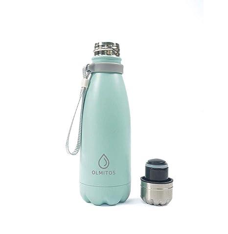 Olmitos - Botella termica inox, 350 ml, color azul: Amazon ...
