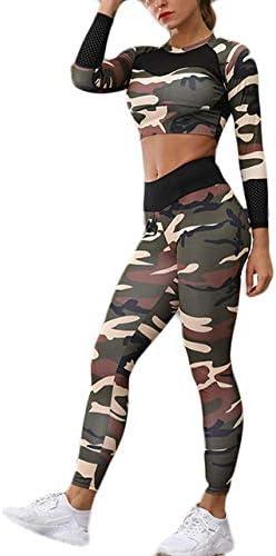 FECPD Conjunto de Yoga Mujer Ropa Deportiva Fitness Traje ...