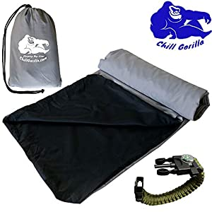 Chill Gorilla Sleeping Bag Liner. Travel & Camping Sheet for Warmth Comfort & Cleanliness. Sleep Sack for Outdoors, Backpacking, Planes, Trains, Hotels & Hostels. Sleeping Bag Accessories. Grey