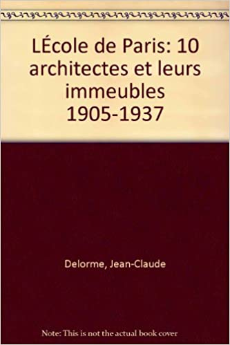 Livres gratuits L'ECOLE DE PARIS epub pdf