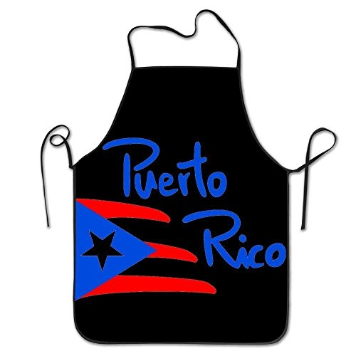 Loave Puerto Rico Unisex Adult Teen Kids Durable Cooking Baking Kitchen Restaurant Chef Apron Pinafore
