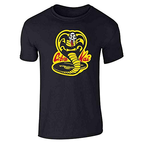 Cobra Kai Karate Kid Dojo Retro Martial Arts Black L Short Sleeve T-Shirt -