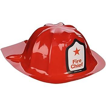 6bd9740e Fun Express Rhode Island Novelty Plastic Firefighter Chief Hat (Set of 12)