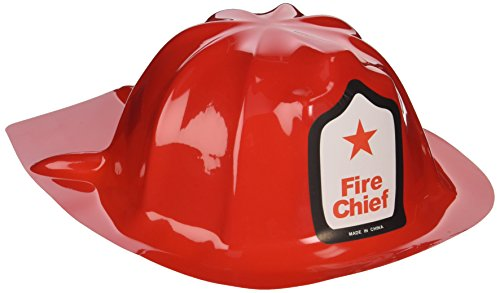 Fun Express Rhode Island Novelty Plastic Firefighter Chief Hat (Set of 12)]()