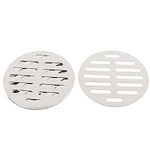uxcell Kitchen Bathroom Round Floor Drain Drainer Cover 4 Inch 10cm Dia 8Pcs