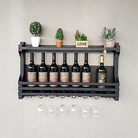 DJSMjbj Las Bebidas Gin Gin Rack Whisky Whisky Plataforma Reciclado Upcycled Pallet Estante Decke (Color : Black)