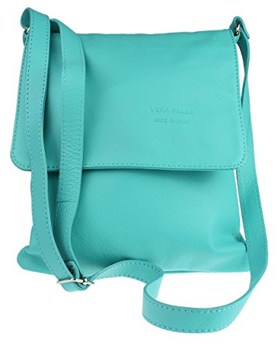 Girly Handbags Renata - Bolso Bandolera Mujer Turquesa - turquesa