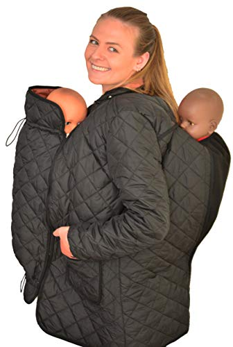 Mothershield Babywearing Coat, Babywearing 4in 1 Coat, Baby Carrier Jacket,Tandem Coat (EU L=40 UK=14 US=12) ()