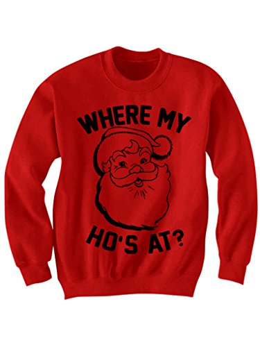 Where My Ho's At Christmas Sweater Christmas Gifts Party Outfit (Ho Outfits)