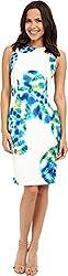 Calvin Klein Women's Multi Floral Sheath CD6MRA00 Atlantis Multi Dress 8