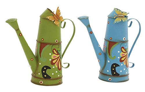 """Metal Watering Can (Set of 2), Assorted, 13"""" x 13"""" from Bayden Hill"""