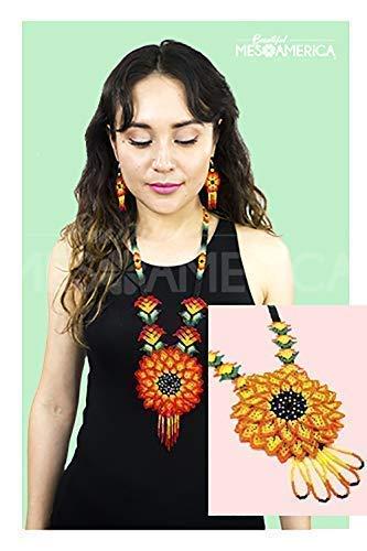 Handmade Mexican Beadwork Necklace Ceila - Huichol Necklace