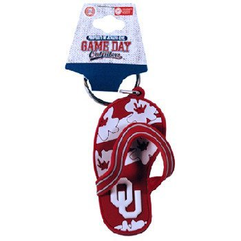 NCAA Oklahoma Sooners Flip Flop PVC Keychain