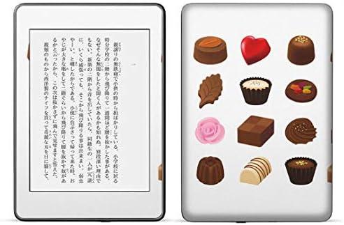 igsticker kindle paperwhite 第4世代 専用スキンシール キンドル ペーパーホワイト タブレット 電子書籍 裏表2枚セット カバー 保護 フィルム ステッカー 015621 チョコレート お菓子 スイーツ