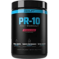DEDLift PR-10 Post-Workout Recovery Drink with Creatine, Leucine, and Betaine for Increased Strength and Recovery, Watermelon Slushie, 30 Servings