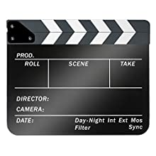 Neewer Acrylic Plastic 10x12in/25x30cm Dry Erase Director's Film Movie Clapboard Cut Action Scene Clapper Board Slate with White/Black Sticks