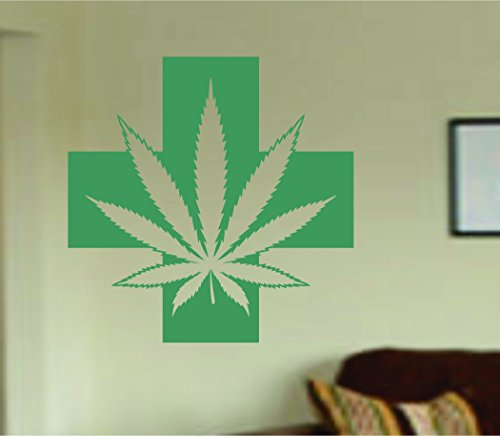 Medical-Marijuana-Wall-Decal-Sticker-Wall-Vinyl-Mural-Mary-Jane-Weed