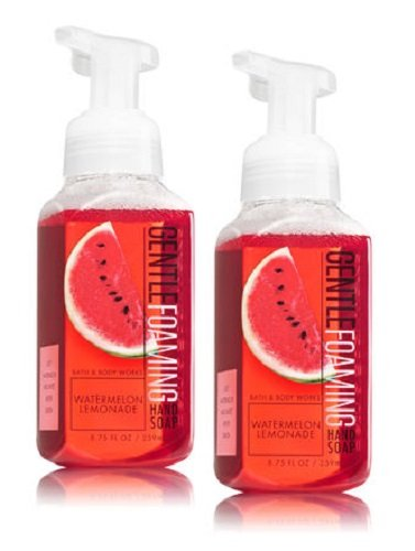 Bath and Body Works Gentle Foaming Hand Soap, Watermelon Lemonade (2-Pack) 8.75 Ounce by Bath and Body Works