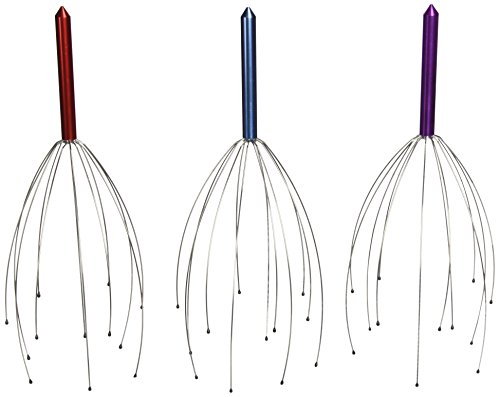 Hand Held Scalp Head Massager - Set of Three (Colors May Vary) (Best Head Massager Reviews)