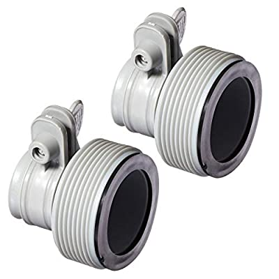 Intex Above Ground Plunger Valves with Gaskets & Nuts + Hose Adapters (2 Each): Garden & Outdoor