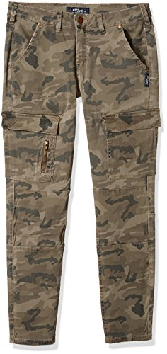 Silver Jeans Co. Women's Mid Rise Skinny Cargo Jeans, Olive Camo, 27 X 29 (Camo Silver)