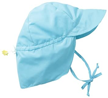 Image Unavailable. Image not available for. Color  i play Little Girls   Solid Flap Sun Hat (Baby Toddler) ... dbb5874b23d9