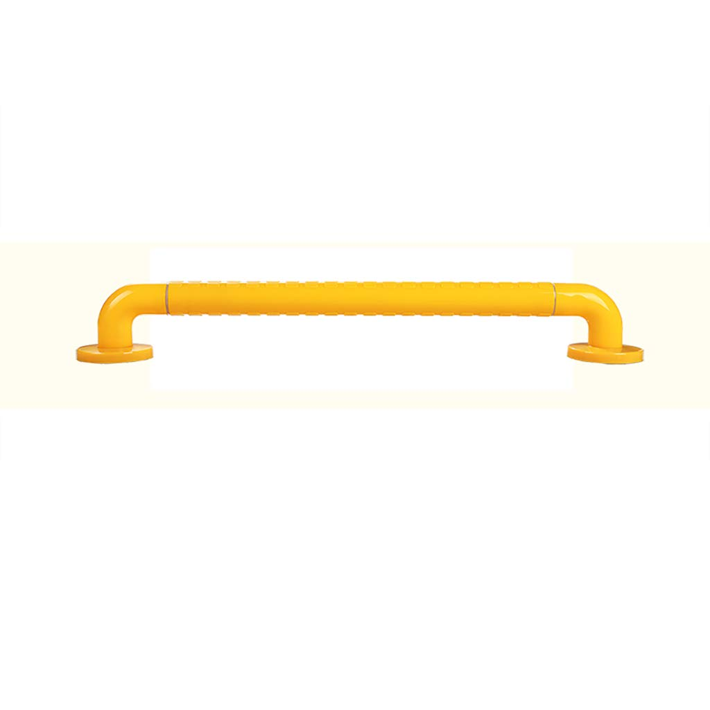 Bathroom Grab Bar, Stainless Steel Handrail, Safety Hand Rail Support, Safety Luminous Circles,Non Skid For Toddlers, Elderly, Seniors, Handicap, Disabled (Color : Yellow, Size : 58)
