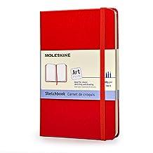 Moleskine Art Plus Sketchbook, Pocket, Plain, Red, Hard Cover (3.5 x 5.5)