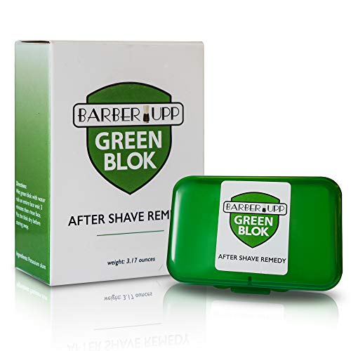 , After Shave,100% Alum, Shaving Accessory, (3.5 oz / 100 grams) Storage Case Included,Styptic skin soothing Alum Green Blok. ()