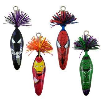 4 Marvel Kooky Pens Spider-Man Black Costume Hulk Iron Man Lot of