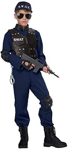 12-14 Childrens SWAT Officer Costume Size Large