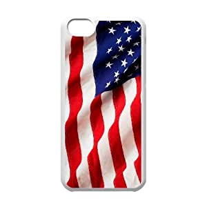 Custom New Cover Case for Iphone 5C, American Flag Phone Case - HL-R643379