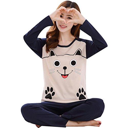 animato Naughtyspicy stampa pigiama Marina Big e donna primavera di carina Panda di Smile cartone da pigiama di completo autunno zBrz1Cx