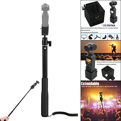 Environmental Housing - Sodoop Selfie Stick, Portable Handheld Extension Rod with 1/4 Screw Adapter for DJI Osmo Pocket 4K Mini Camera [Material: Environmental Plastics + Aluminium]