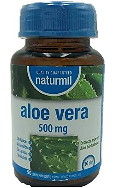 NATURMIL Aloe Vera 500 mg limpieza de colon, pack de (2 X 90 ...
