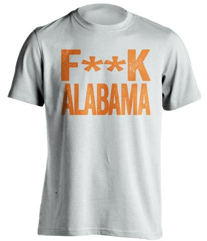 (Fuck UNC - Haters Gonna Hate Shirt Green and Old Gold Versions - Text Design - White - Censored - Small)