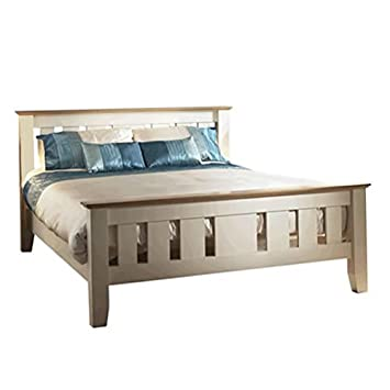 Enjoyable Wooden Bedframe Double Cream Alder Oak Bedroom Home Interior And Landscaping Ponolsignezvosmurscom