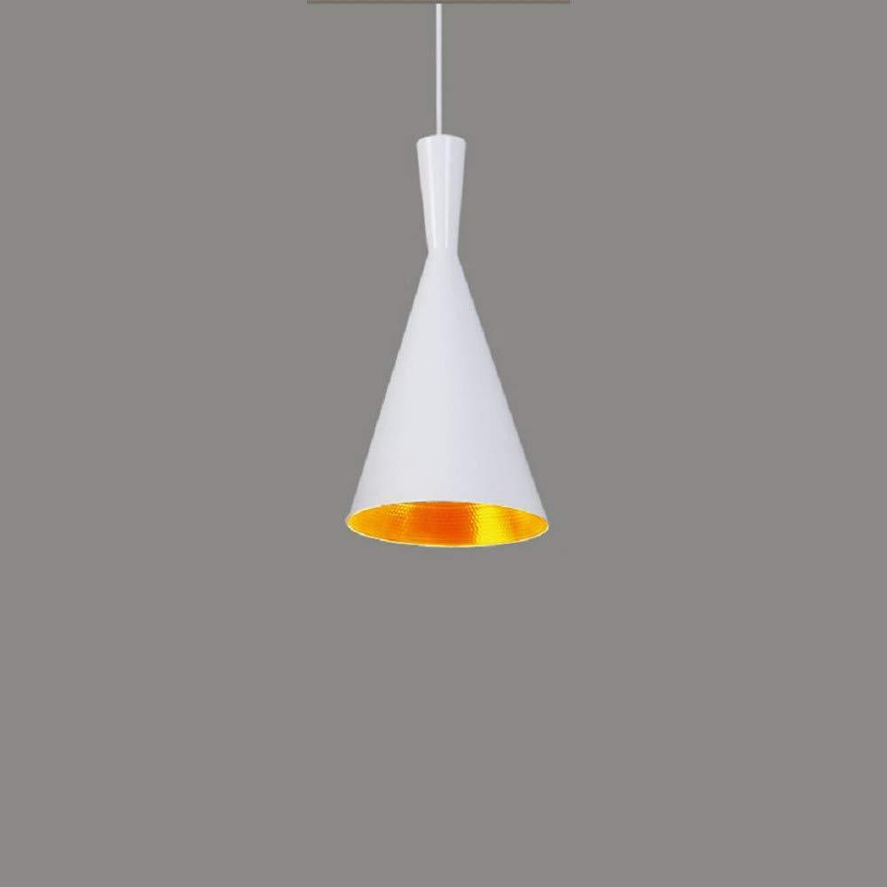 Weiß 10×40×19cm Beleuchtung Innen Schlafzimmer Wohnzimmer Beleuchtung Café Esszimmer Kronleuchter Bar einzigen Kopf Schmiedeeisen Kronleuchter, 10 × 37 × 24cm, weiß