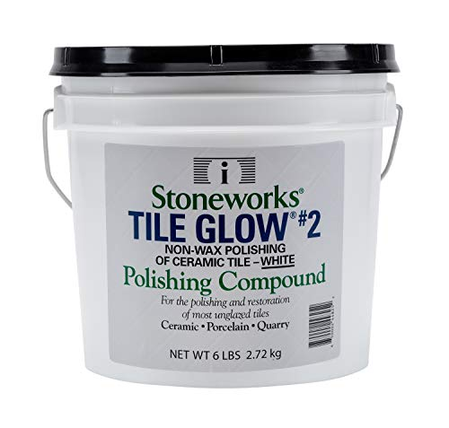 (Tile Glow #2 White (6 Lb) Natural, Non-Wax Compound for The Polishing of Most Unglazed Ceramic, Porcelain and Quarry Tiles, which Gives a Long Lasting Finish and Natural Shine to Tiles )