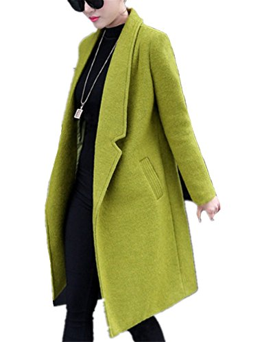Femme Femme Manteaux Fausse Manteaux et Fanessy Vert Costume Coat d'hiver Chaude Veste Blousons Manteaux Blouson Veste en Manches Chaud Manteau Parkas Parka Manteaux Hiver Longues wXqFddBH