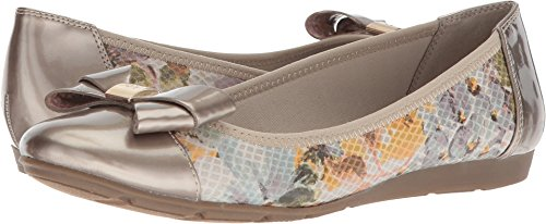Anne Klein AK Sport Women's ALPHIA Light Green Multi Fabric Ballet Flat, 7.5 M US