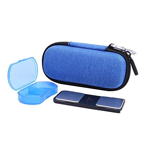 Hard Case for AliveCor Kardia Mobile Wireless 6-Lead ECG/EKG Monitor with Pill Organizer by Anellosi (Blue)