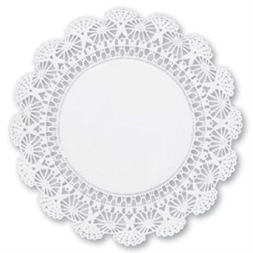 12 inch White Round Paper Lace Doilies - An elegant addition to your beautiful table settings (60) (White Paper Doilies)
