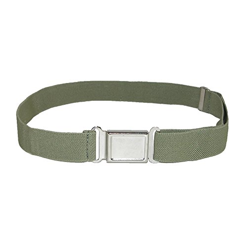CTM Kids Elastic Stretch Belt with Magnetic Buckle