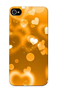 Premium [qktref-2136-onbydjw]orange Hearts Glitter Case For Iphone 5/5s With Design - Eco-friendly Packaging